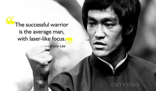 quote bruce lee about successful warrior