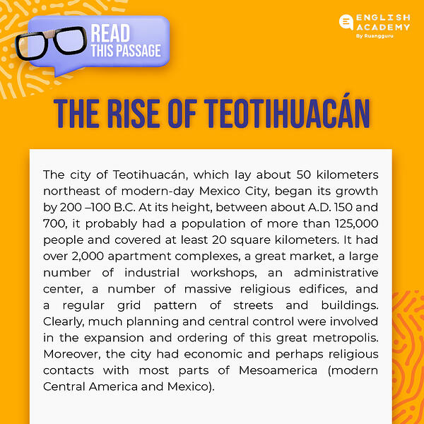 The Rise of Teotihuacan